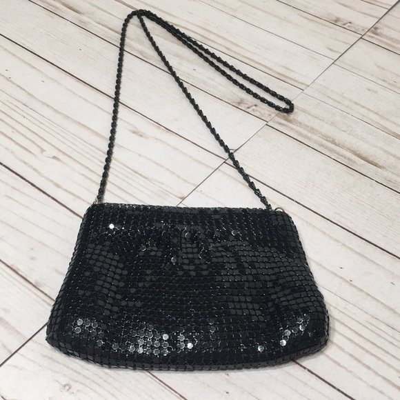 Metal Mesh Mini Bag Black special occasion